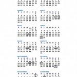 Calendario Chile 2014